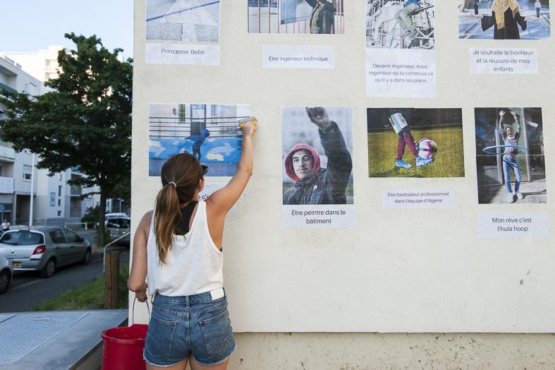 Projet Faire danser les murs, C'est quoi ton rêve ? ©Juliette Treillet